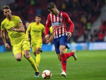 Morata, en el partido contra el Villarreal