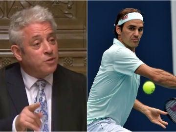 John Bercow y Roger Federer