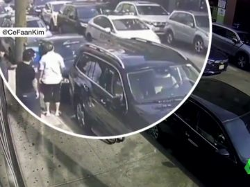 La Policía embiste a tres vehículos en un atasco en Nueva York