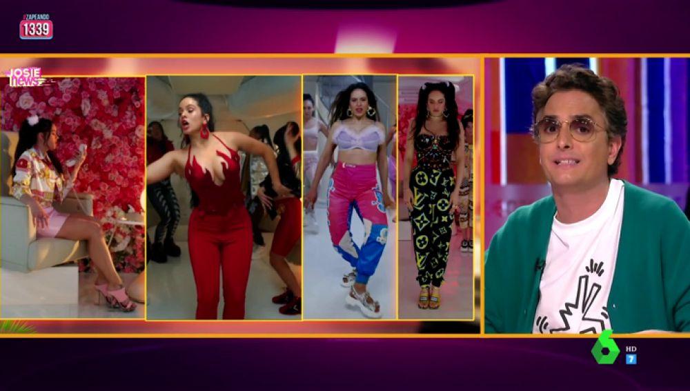 """Josie analiza los outfits de Rosalía en su nuevo videoclip: """"Parece que han dicho créame un personaje de choni y poligonera"""""""