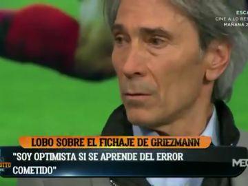 """'Lobo' Carrasco, en El Chiringuito: """"Soy optimista con el fichaje de Griezmann"""""""