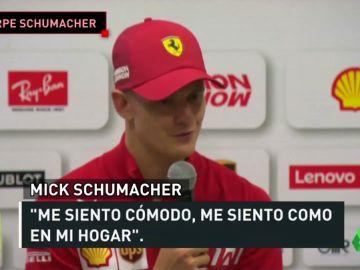 La imagen que emociona a los ferraristas: Mick Schumacher entrando en el box de Ferrari