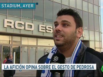 """La afición del Espanyol entiende a Pedrosa: """"Si me encuentro a Messi yo también le pediría la camiseta"""""""