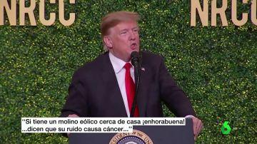 Trump carga contra la energía eólica asegurando que los molinos de viento dan cáncer
