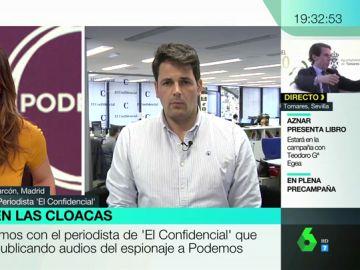 """José María Olmo, periodista de 'El Confidencial': """"Se cumplen las sospechas de Podemos: la investigación tenía una motivación política"""""""