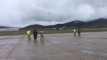 Un complicado aterrizaje de avión deja nueve militares heridos en Huesca