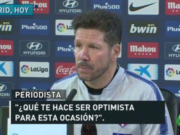"""Simeone: """"En estos años somos los competidores más cercanos del Barcelona"""""""