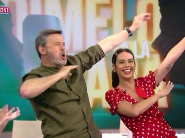 """Cristina Pedroche y Miki Nadal arrasan en el Juego de la SemAnna 'Dímelo a la cara': """"Se lo dedicamos a Lorena Castell y a su hijo"""""""