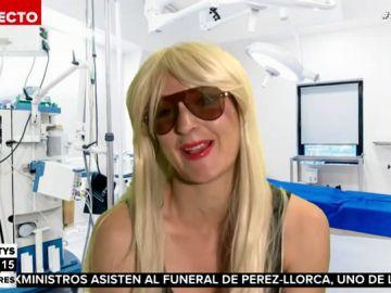 """Leonor Lavado se mete en la piel de Leticia Sabater para hablarnos de su operación: """"Estoy vendiendo la grasa como merchandising"""""""