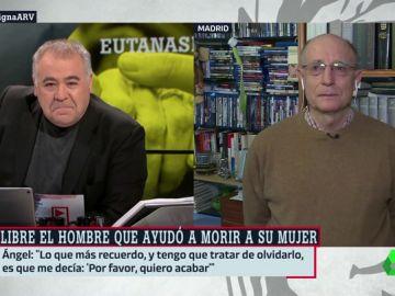 El emotivo relato de Ángel Hernández que llenó de silencios el plató de ARV tras ayudar a morir a su mujer
