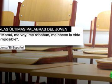 """El adolescente que se suicidó en Madrid dejó una nota: """"Me hacen la vida imposible"""""""