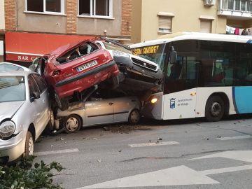 Accidente de un autobús en Málaga