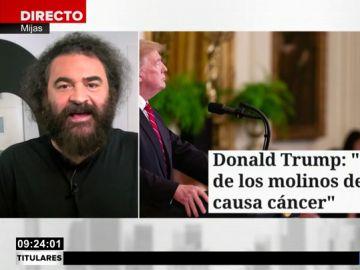 """La crítica de El Sevilla a Trump tras sus declaraciones sobre los molinos de viento: """"Es el tío más idiota del mundo"""""""