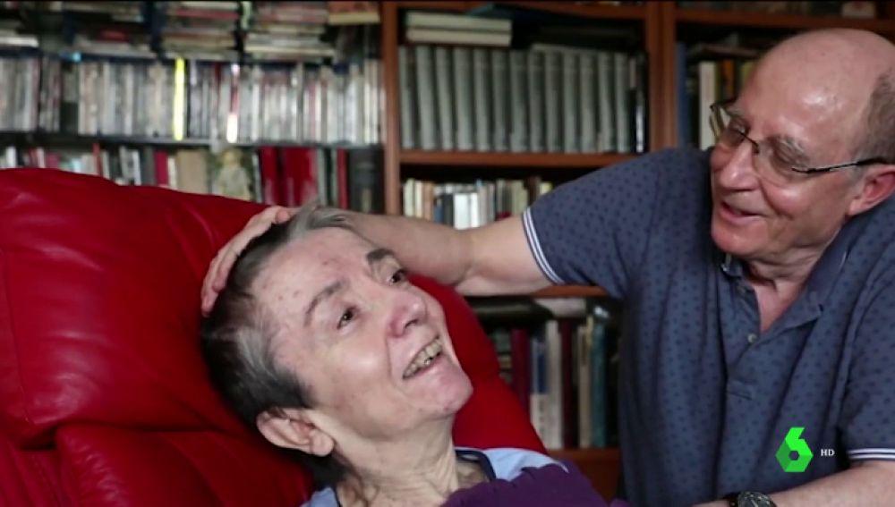 Maria José con su marido, Ángel Hernández
