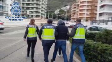 Imagen del momento de la detención del fugitivo más buscado por las autoridades polacas en Valencia