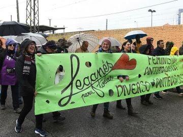 Manifestación en Leganés de colectivos feministas contra Vox