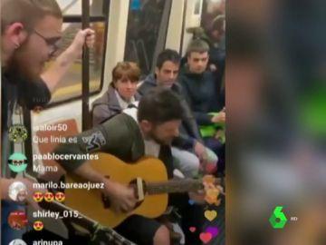 Pablo López en el Metro de Madrid