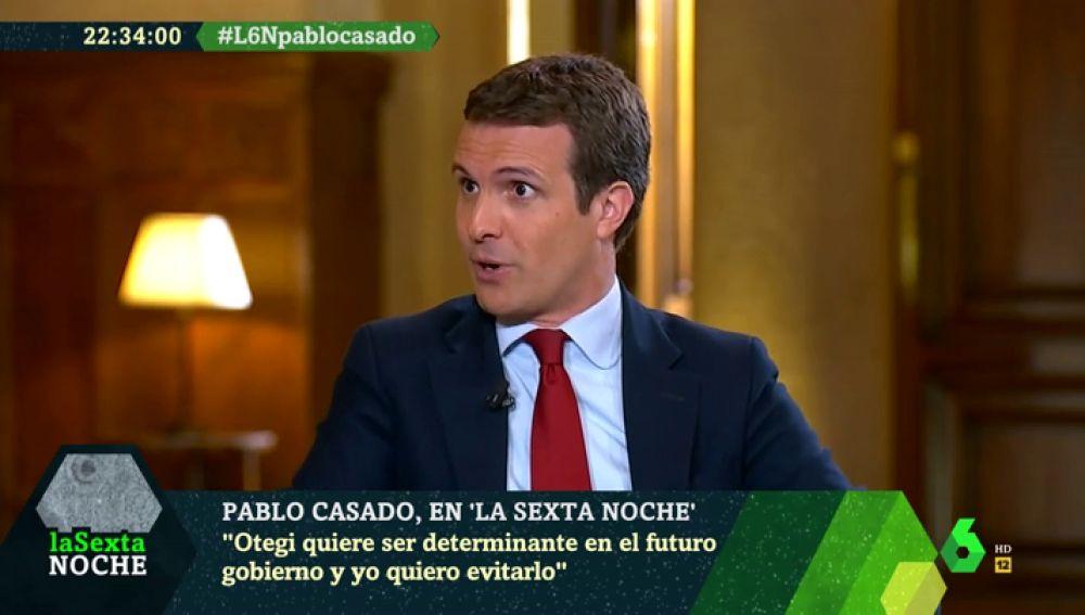 """Pablo Casado: """"Gracias a Sánchez, en 40 años de historia criminal de ETA sus amigos de Bildu nunca habían conseguido tanto"""""""