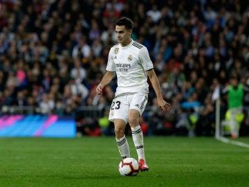 Reguilón, con el Real Madrid