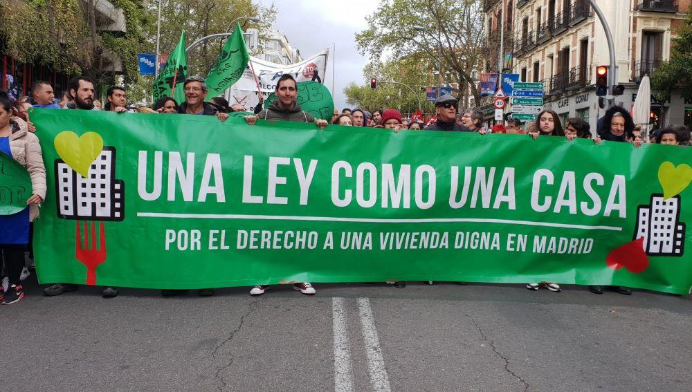 Manifestación en Madrid por una vivienda digna