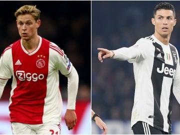 De Jong y Cristiano Ronaldo