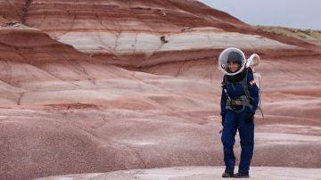 Natalia Larrea, en una misión simulada a Marte