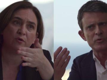 Ada Colau y Manuel Valls en Salvados