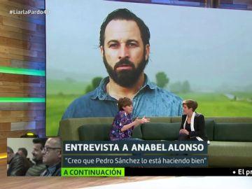 """La rotunda opinión de Anabel Alonso sobre """"Santi"""" Abascal: """"De lo que habla me suena a Atapuerca"""""""
