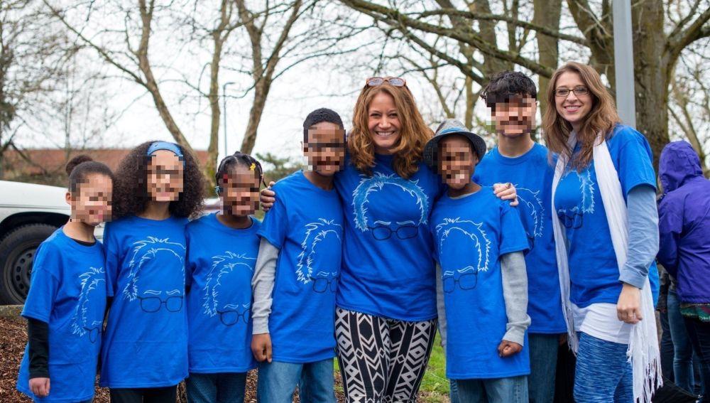 Sarah y Jessica junto a sus hijos