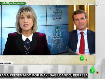 """La aplaudida reflexión de Julia Otero a Pablo Casado sobre la """"policía política"""""""