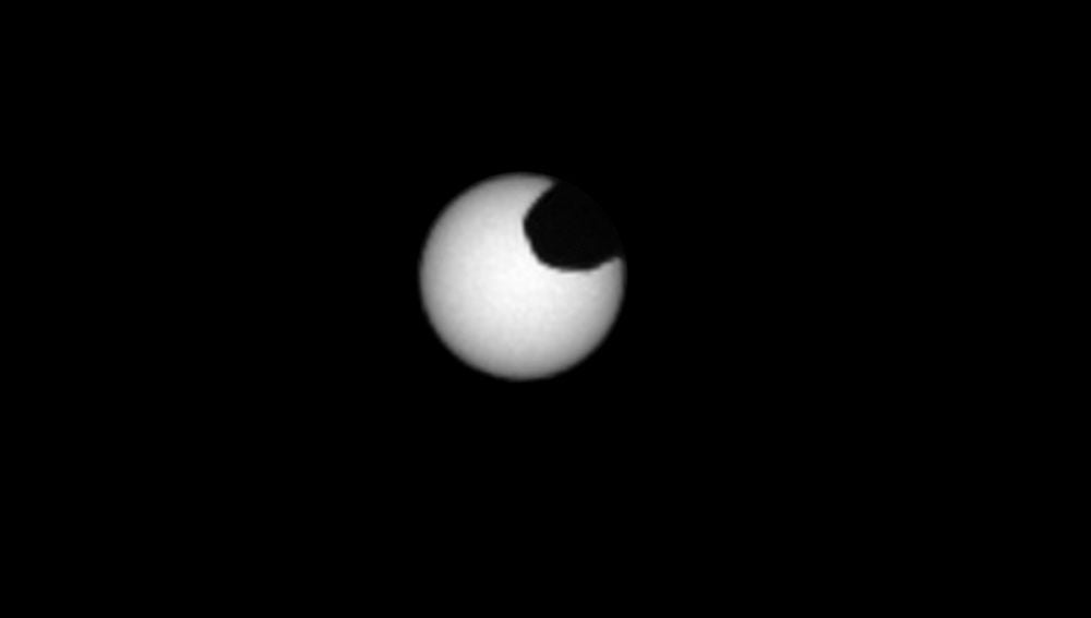 Así se ve un eclipse de Sol desde Marte