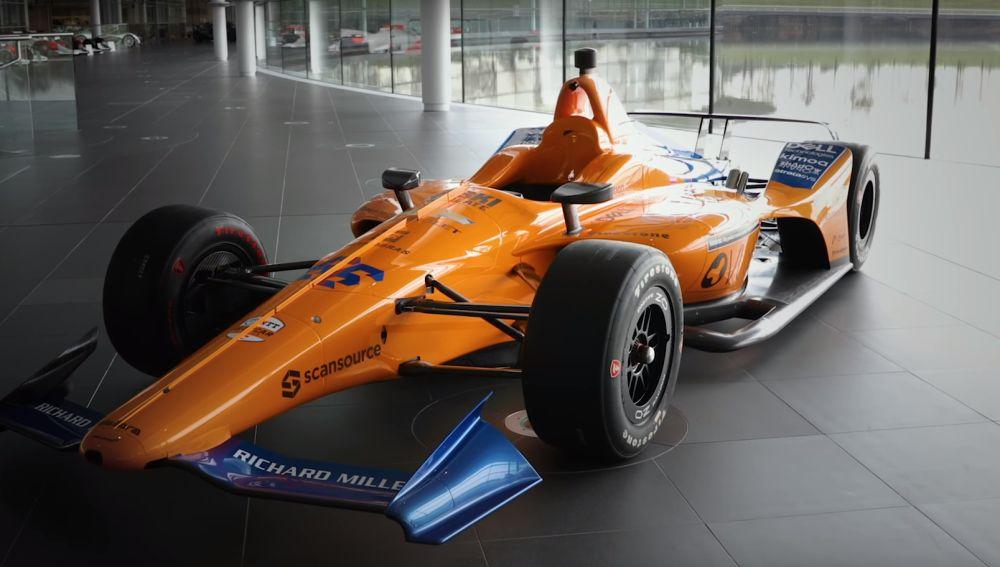 El McLaren de Fernando Alonso para las 500 Millas de Indianápolis