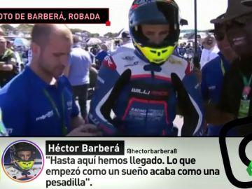 """El misterioso robo de la moto de Barberá: """"Héctor no quería correr, y para él era mejor venir y coger la moto"""""""