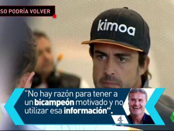 David Coulthard cree que Fernando Alonso podría volver a la F1 este año