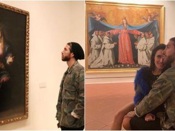 Sergio Ramos y Pilar Rubio, en su visita al Museo de Bellas Artes de Sevilla
