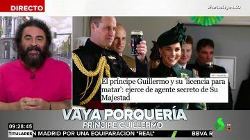 """El análisis de El Sevilla sobre el trabajo de espía del príncipe Guillermo: """"Yo prefiero el secreto ibérico"""""""