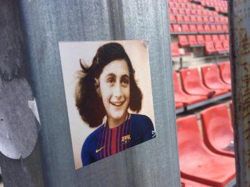 La imagen de Ana Frank con la camiseta del Barcelona