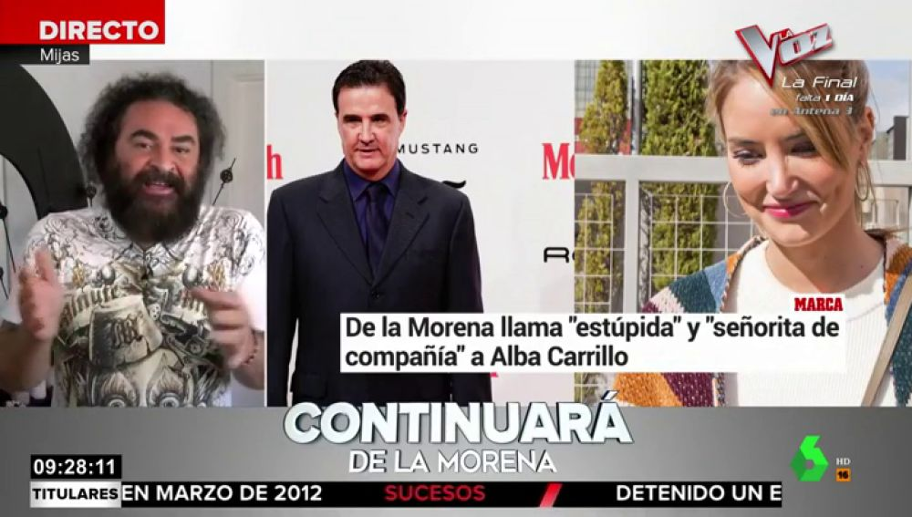 El Sevilla, sobre la 'guerra' entre De la Morena y Alba Carrillo