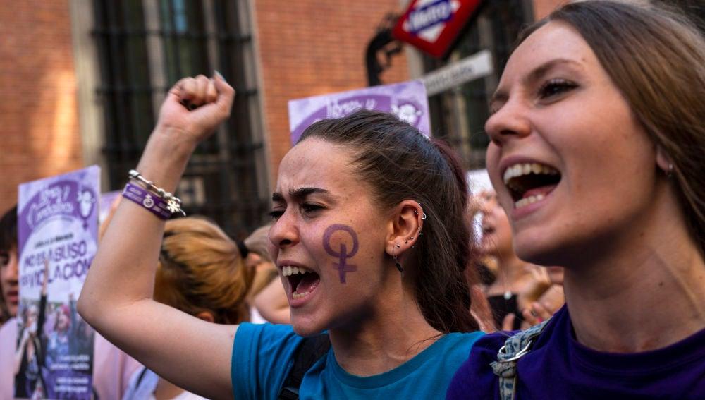 Manifestación en Madrid contra la sentencia judicial del caso de 'La Manada'.