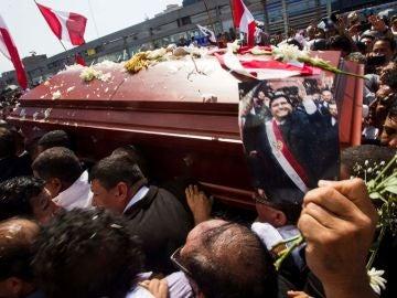 Féretro del expresidente peruano Alan García