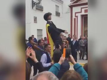 Muñeco representando a Puigdemont en Coripe, Sevilla