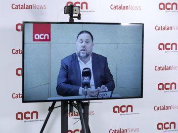 Rueda de prensa de Oriol Junqueras desde prisión