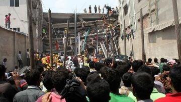 Así fue el derrumbe del Rana Plaza