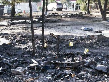 Un incendio arrasa un campamento de migrantes en Palos de la Frontera