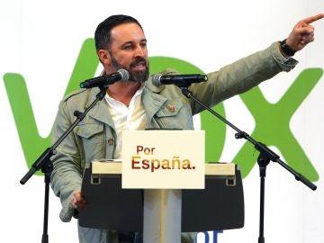 El candidato de Vox a la Presidencia del Gobierno, Santiago Abascal