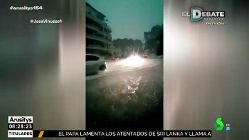 La lluvia inunda la Comunitat Valenciana: más de 250 litros caen en Xàbia en sólo seis horas
