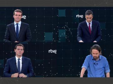 Así han despedido el debate los cuatro candidatos a las elecciones