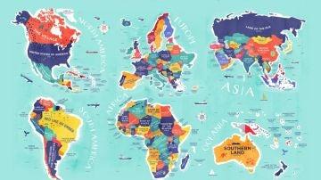 Mapa etimológico del mundo