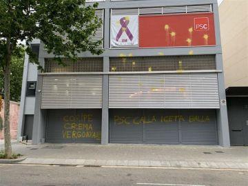 Atacan la sede del PSC