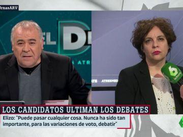 """Gloria Elizo: """"Pedro Sánchez puede mirar hacia la derecha para formar gobierno, por eso necesitamos que Podemos sea fuerte"""""""